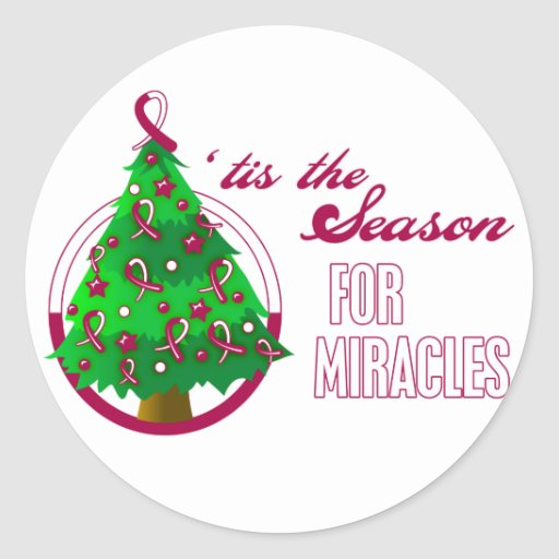 Head Neck Cancer Christmas Miracles Stickers