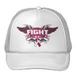 Head Neck Cancer Fight Like a Girl Wings.png Trucker Hats