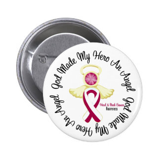 Head Neck Cancer God Made My Hero An Angel 6 Cm Round Badge