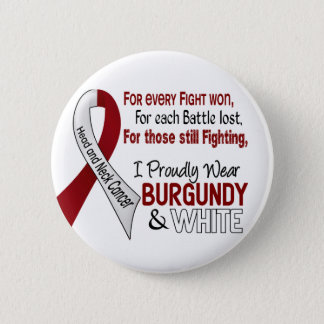 Head & Neck Cancer I Proudly Wear Burgundy White 1 6 Cm Round Badge