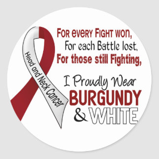 Head & Neck Cancer I Proudly Wear Burgundy White 1 Sticker