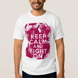 Head Neck Cancer Keep Calm and Fight On Shirt