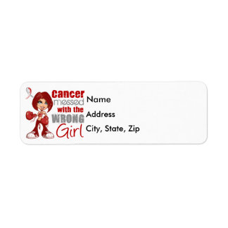 Head Neck Cancer Messed With Wrong Girl.png Return Address Label