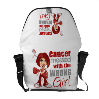 Head Neck Cancer Messed With Wrong Girl.png Messenger Bags