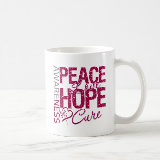 Head Neck Cancer Peace Love Cure Mugs