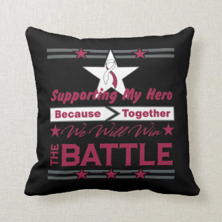 Head Neck Cancer Supporting My Hero Pillow