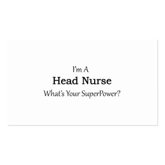 Head Nurse Pack Of Standard Business Cards