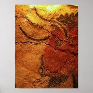 Head of a bison Altamira Cave Print