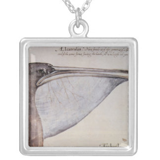 Head of a Brown Pelican Silver Plated Necklace