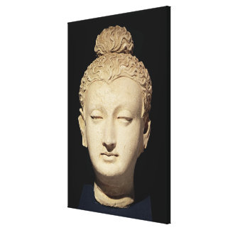 Head of a Buddha, Greco-Buddhist style Canvas Print