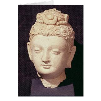 Head of a Buddha, Greco-Buddhist style Card
