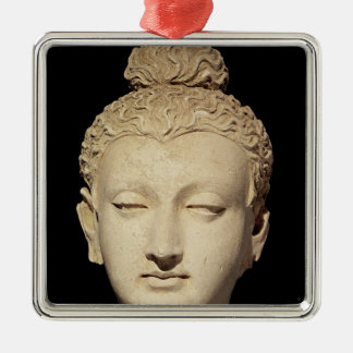 Head of a Buddha, Greco-Buddhist style Christmas Ornament