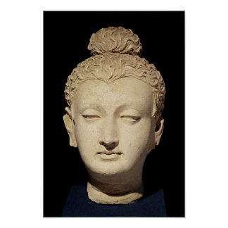 Head of a Buddha, Greco-Buddhist style Poster