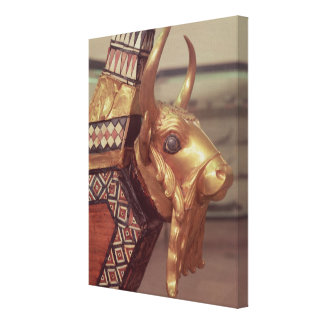 Head of a bull, decoration from a harp gallery wrap canvas
