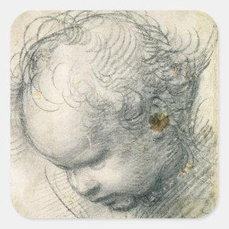 Head of a Cherub Square Sticker
