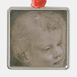Head of a Child Christmas Ornament