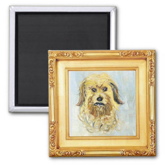 Head of a Dog by Claude Monet Square Magnet
