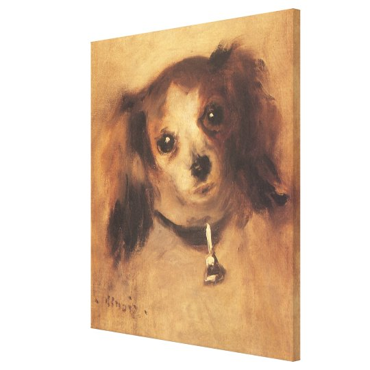 Head of a Dog by Pierre Renoir, Vintage Fine Art Canvas Print