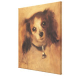 Head of a Dog by Pierre Renoir, Vintage Fine Art Gallery Wrapped Canvas