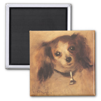Head of a Dog by Pierre Renoir, Vintage Fine Art Magnet