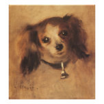 Head of a Dog by Pierre Renoir, Vintage Fine Art Poster
