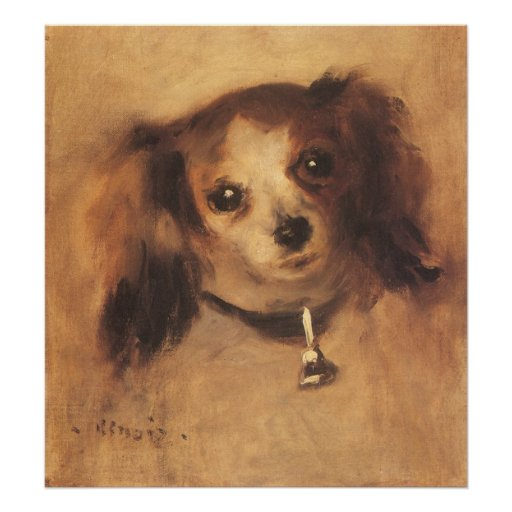 Head of a Dog by Renoir, Vintage Impressionism Art Print