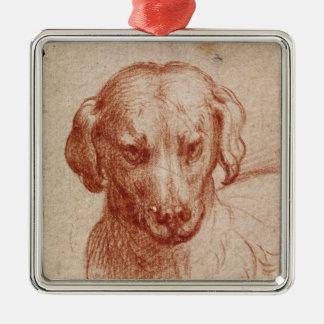 Head of a Dog Christmas Ornament