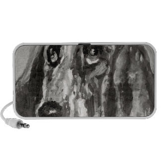 Head of a Dog Running 1880 Mini Speaker