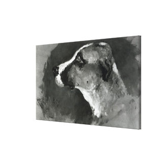Head of a Dog with Short Ears, 1879 Canvas Print