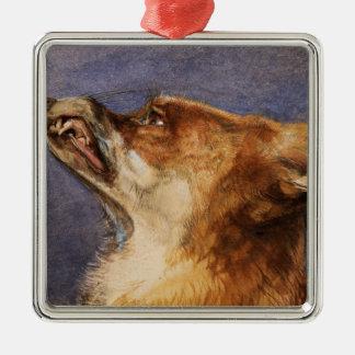Head of a Fox Christmas Ornament