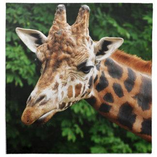 Head of a giraffe napkin
