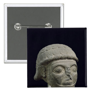 Head of a god, from Barak in Turkey 15 Cm Square Badge