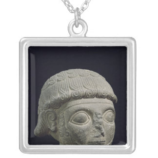 Head of a god, from Barak in Turkey Silver Plated Necklace