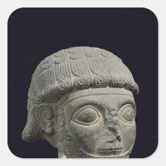 Head of a god, from Barak in Turkey Square Sticker