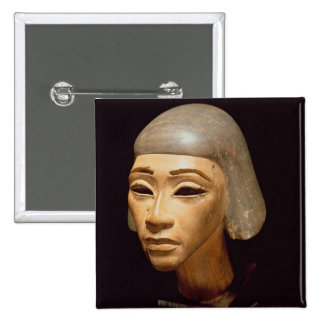 Head of a Harpist, from Tell El-Amarna, c.1370-136 15 Cm Square Badge