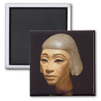 Head of a Harpist, from Tell El-Amarna, c.1370-136 Square Magnet