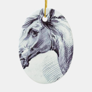 Head of a Horse by Alexander Orlowski Christmas Ornament