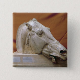 Head of a Horse of Selene 15 Cm Square Badge