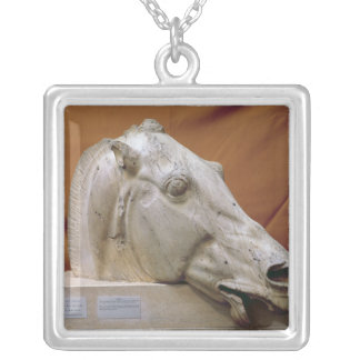 Head of a Horse of Selene Silver Plated Necklace