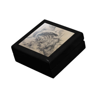 Head of a King Abstract Small Square Gift Box