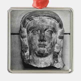 Head of a lady from Palmyra, mid-2nd century AD Silver-Colored Square Decoration