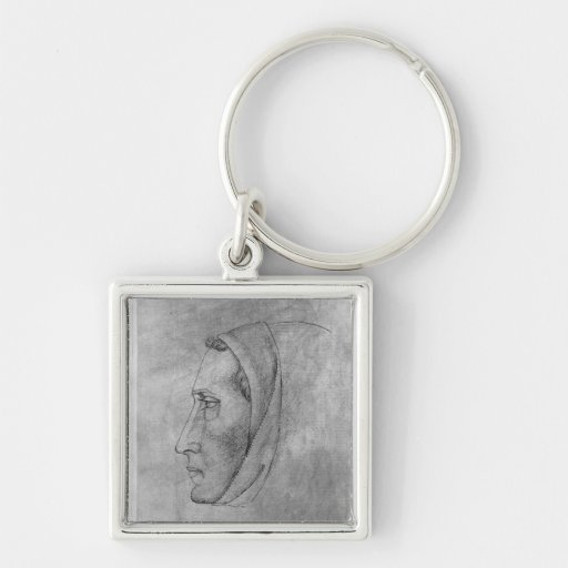 Head of a monk, from the The Vallardi Album Key Chain