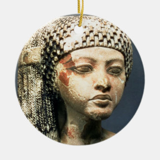 Head of a Princess from the family of Akhenaten, N Round Ceramic Decoration