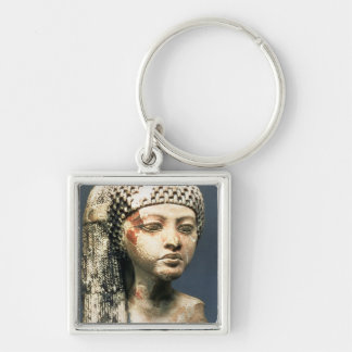 Head of a Princess from the family of Akhenaten, N Silver-Colored Square Key Ring