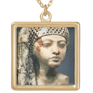Head of a Princess from the family of Akhenaten, N Square Pendant Necklace