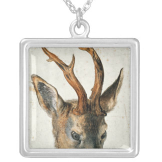 Head of a Roe Deer Silver Plated Necklace