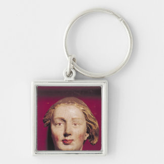 Head of a saint, c.1520 Silver-Colored square key ring