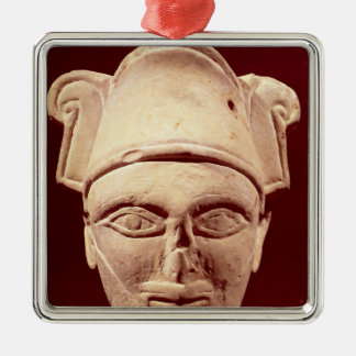 Head of a Semite chief with Egyptian influence Silver-Colored Square Decoration