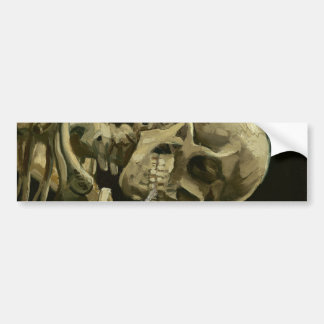 Head of a skeleton bumper sticker
