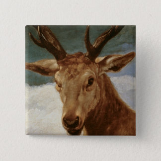 Head of a Stag, 1634 15 Cm Square Badge